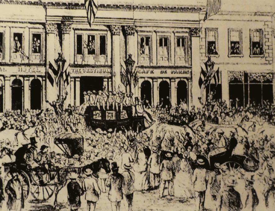 図3.1868年にイギリスに行ったオーストラリア最初のクリケットチーム オーストラリア国立図書館所蔵