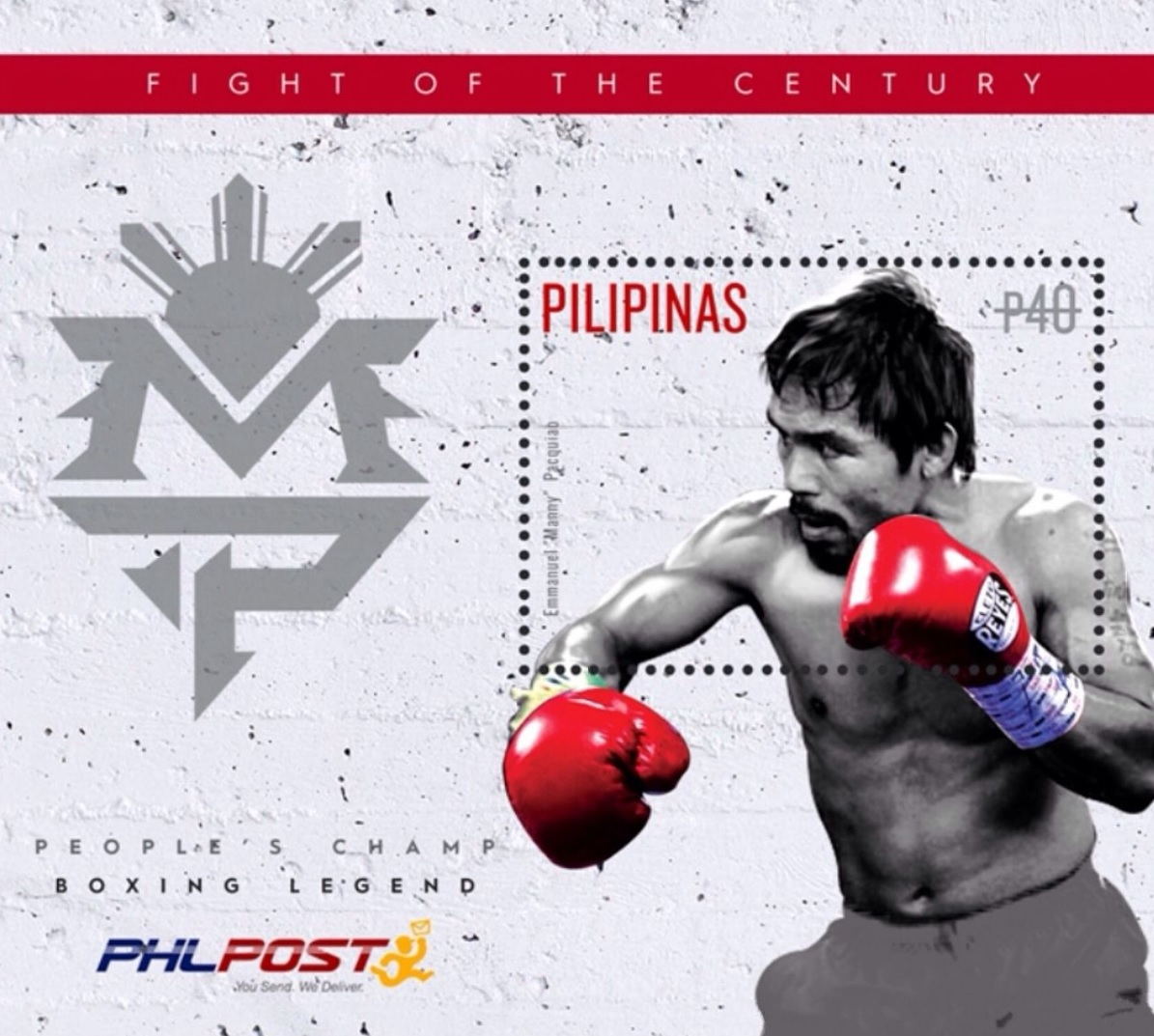 図4.切手のモデルとなったパッキャオ https://en.wikipedia.org/wiki/Manny_Pacquiao#/media/File:Manny_Pacquiao_2015_stampsheet_of_the_Philippines.jpg