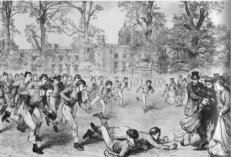 図6.ラグビー校で行なわれていたフットボール Victorian Picture Library SKU34
