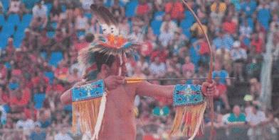 図14.2015年にブラジルで行なわれた第1回世界先住民競技大会 World Indigenous Games, United Nations Development Programme, 2015, p.75