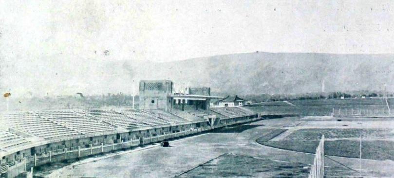 図3.南京の中央体育場 夏行時「中央体育場概況」『中国建築』第一巻第三期、1933年9月
