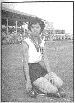 図3.シンガポールで最初のオリンピック女子選手タン・プイワー。1952年のオリンピック出場後に競技界から引退した。 Reprint from: Aplin / Waters / Leong, Singapore Olympians, p. 21