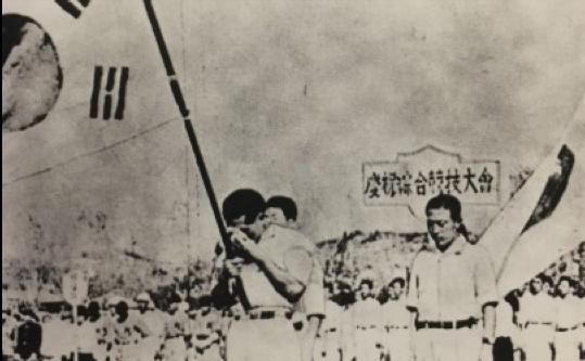 図4.自由解放慶祝総合競技大会時の孫基禎 、2010年