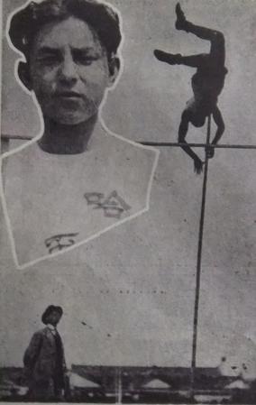 図4.第4回全国運動会棒高跳で優勝した符保盧 『文華』第9期、1930年4月