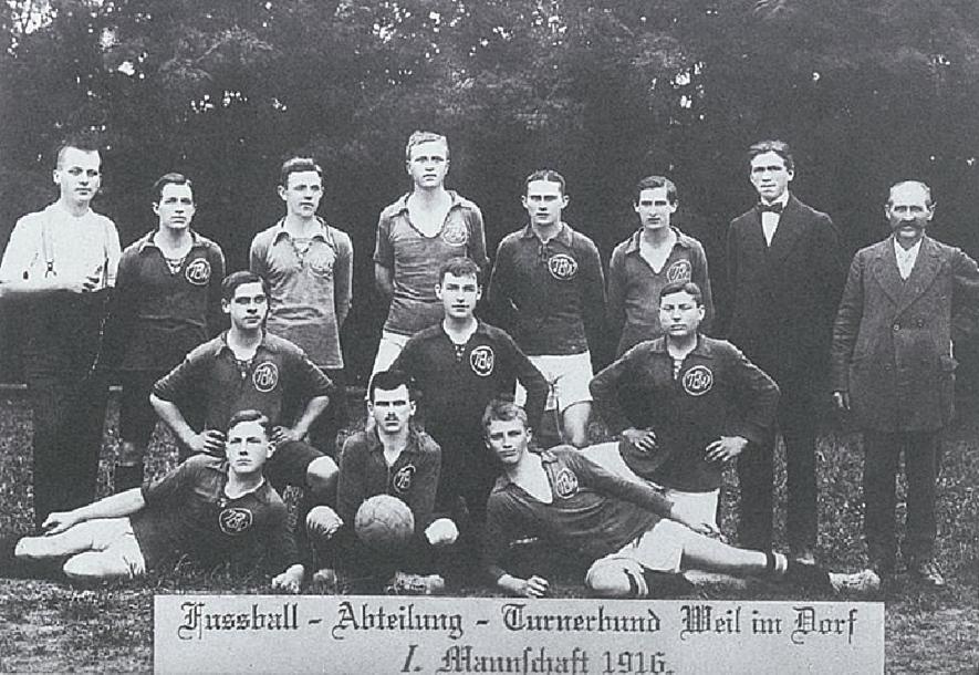 図4.ヴュルテンベルクにおけるサッカークラブ(1916年) Krüger, M., Von Klimmzügen, Aufschwüngen und Reisenwellen. 150 Jahre Gymnastik, Turnen, Spiel und Sport in Württemberg, Tübingen 1998