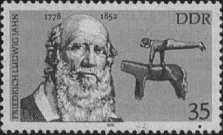 図1.東ドイツのフリードリヒ・ヤーンの記念切手 Eichel, W. u.a., Illustrierte Geschichte der Körperkultur, Bd.2, 1983 Berlin